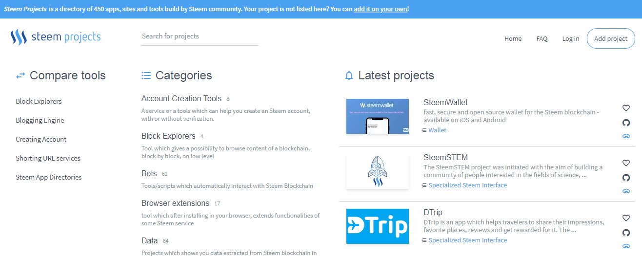 steem projects